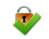 Icon - Lock Secure Gold
